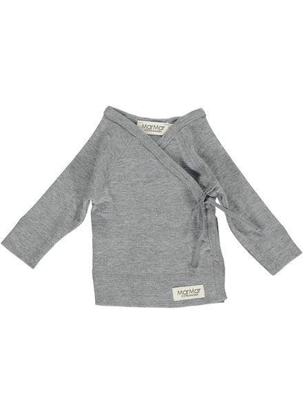 MarMar Copenhagen Tut Wrap Blouse - Grey Melange