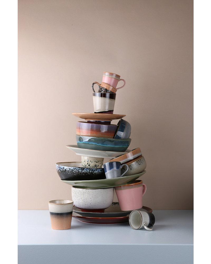 HK Living Ceramic 70's cappuccino mug - hail