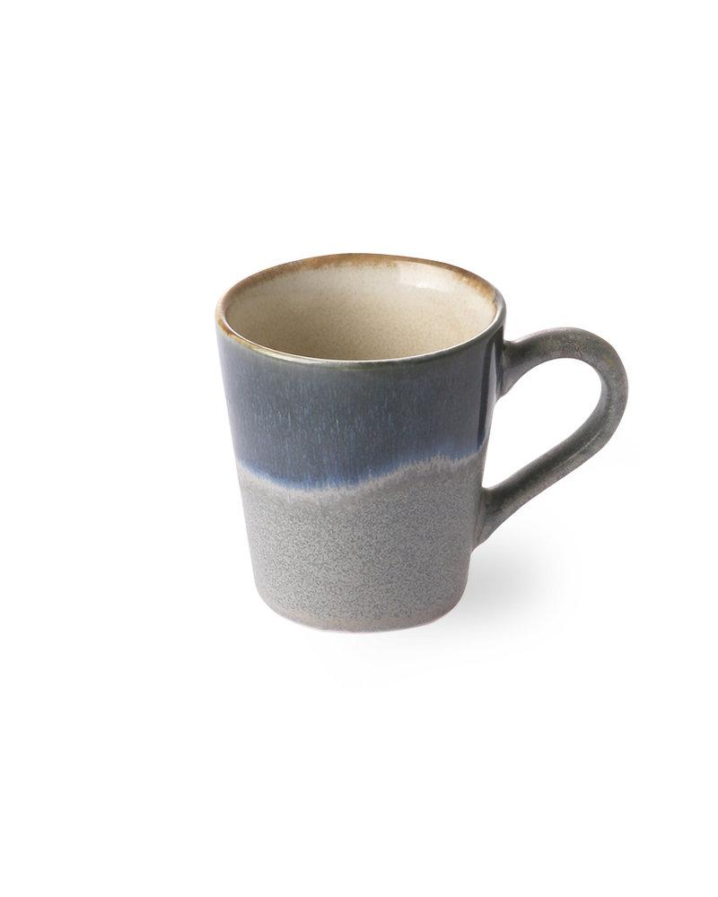HK Living Ceramic 70's Espresso mugs - ocean