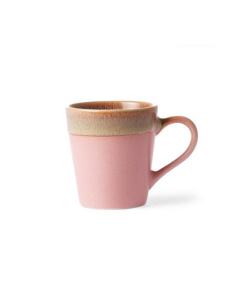 HK Living Ceramic 70's Espresso Tassen - pink