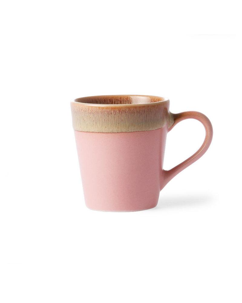 HK Living Ceramic 70's Espresso mugs - pink