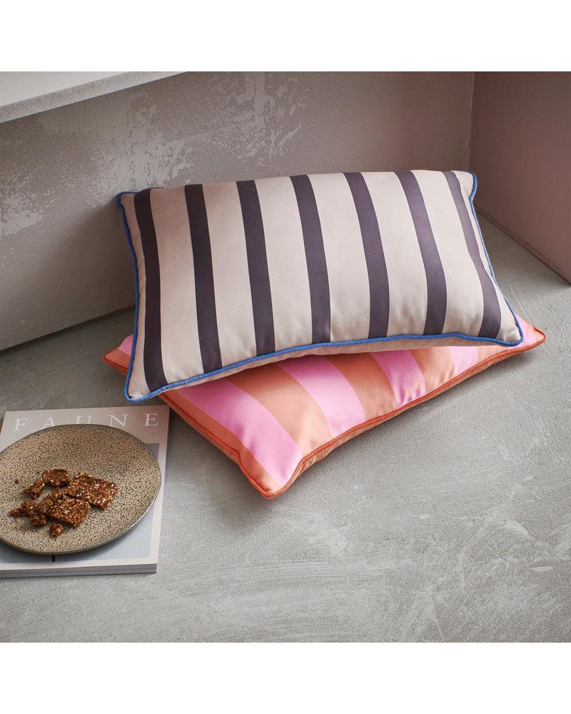 HK Living Satin/Velvet cushion orange/pink