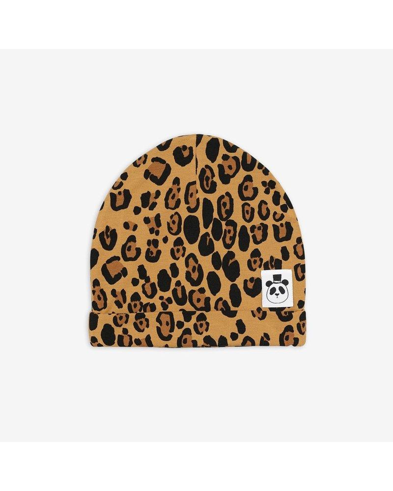 Mini Rodini Leopard Basic Beanie - Beige