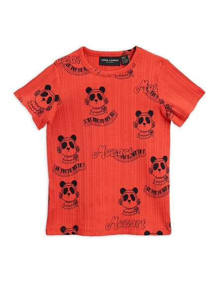 Mini Rodini Mozart aop ss tee - red