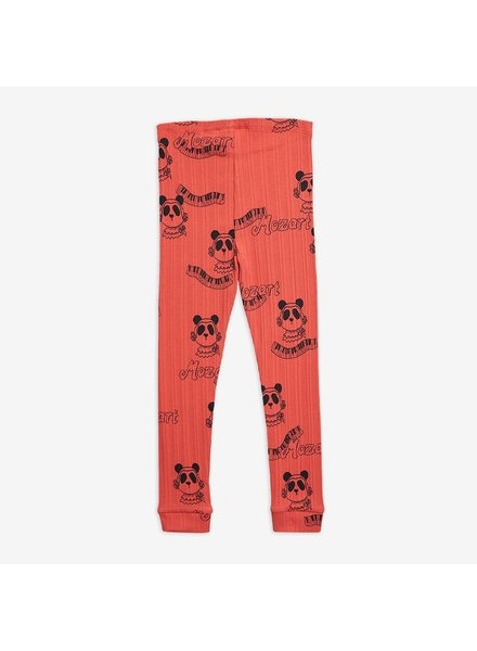 Mini Rodini Mozart aop leggings - red