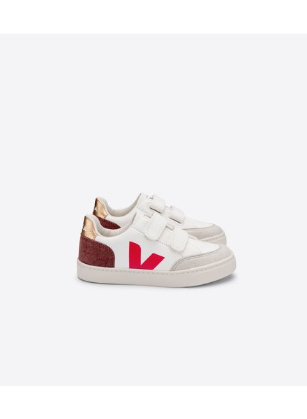 VEJA SNEAKER ESPLAR VELCRO LEATHER extrawhite multico dried petal