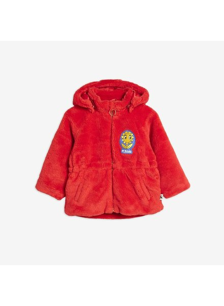 Mini Rodini FAUX FUR PARKA - Red
