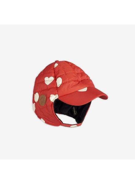 Mini Rodini INSULATOR HEARTS CAP - red
