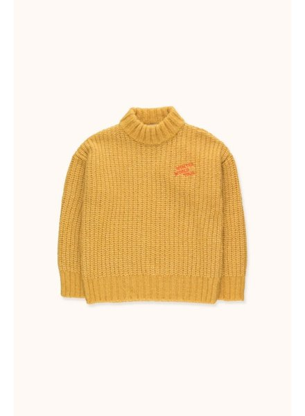"Tiny Cottons ""WINTER WORLD TOUR"" SWEATER - Yellow"