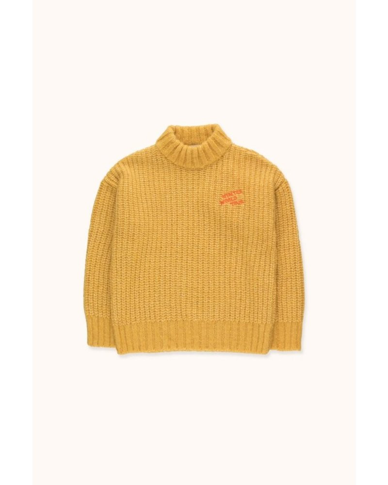 """Tiny Cottons """"WINTER WORLD TOUR"""" SWEATER - Yellow"""