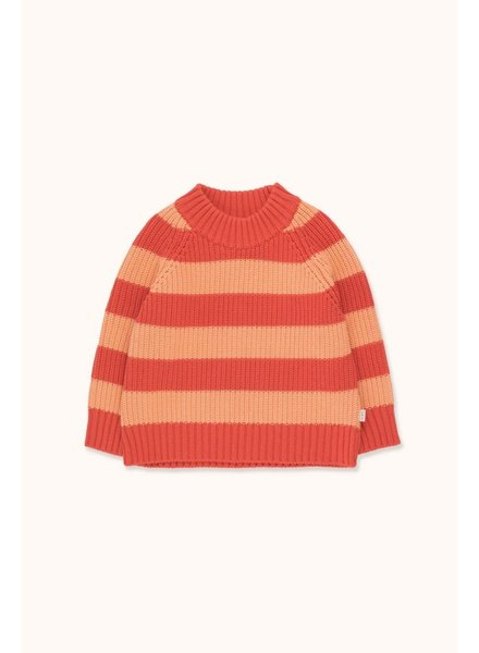 Tiny Cottons STRIPES SWEATER red/peachy red