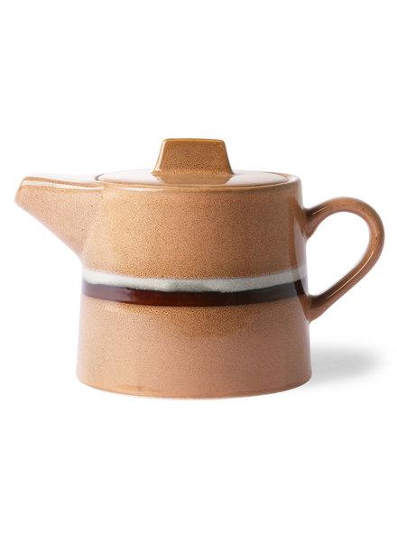 HK Living Ceramic 70's tea pot - stream