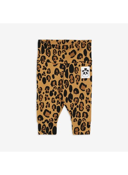 Mini Rodini BASIC LEOPARD Newborn Leggings - Beige