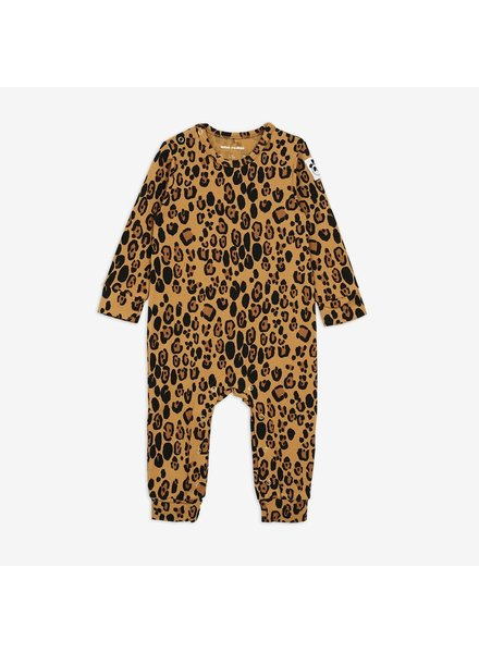 Mini Rodini Basic Leopard Jumpsuit - Beige