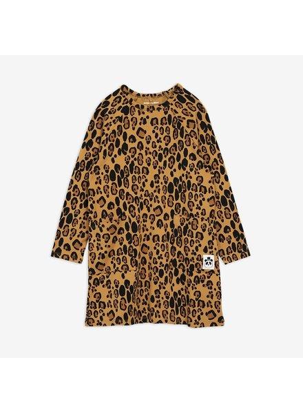 Mini Rodini Basic Leopard Long Sleeve Dress - Beige