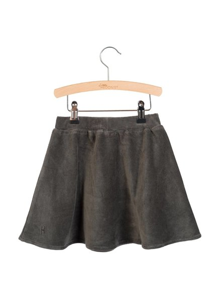 Little Hedonist Pleated Skirt Mesa - Pirate Black Rib