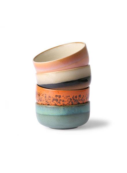 HK Living Ceramic 70's Dessert Bowls - set of 4