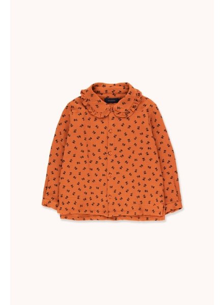Tiny Cottons TINY FLOWERS SHIRT -  Sienna/Navy