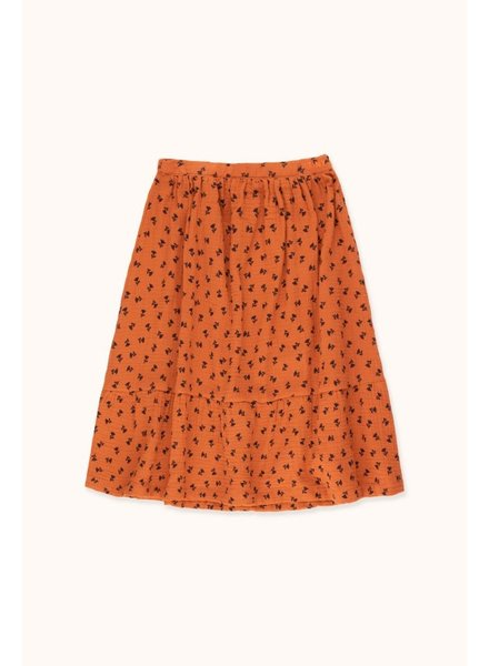 Tiny Cottons TINY FLOWERS LONG SKIRT -  Sienna/Navy