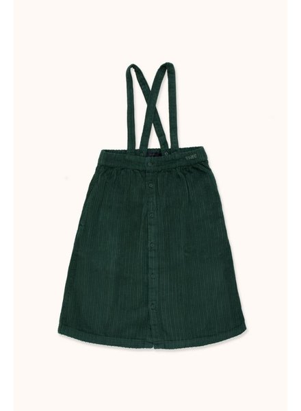 Tiny Cottons SOLID BRACES MIDI SKIRT - Dark Green