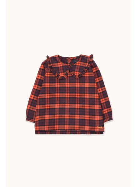 Tiny Cottons CHECK SHIRT -  Navy/Red
