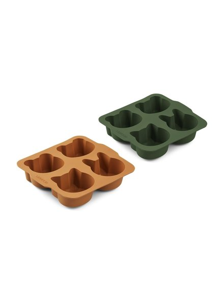 Liewood Mariam cake pan 2-pack - hunter green/mustard mix