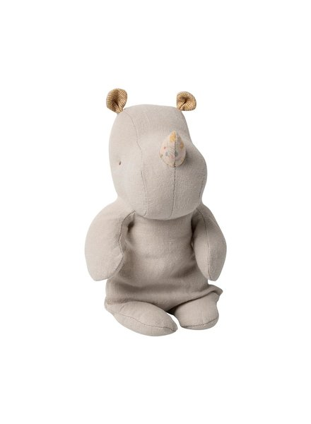 Maileg Safari Friends, small Rhino - grey