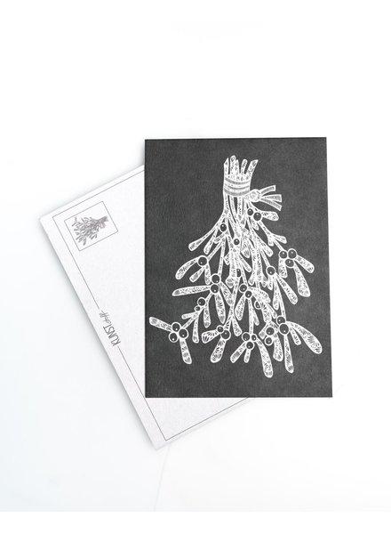 Postkarte - Mistelzeig Olive