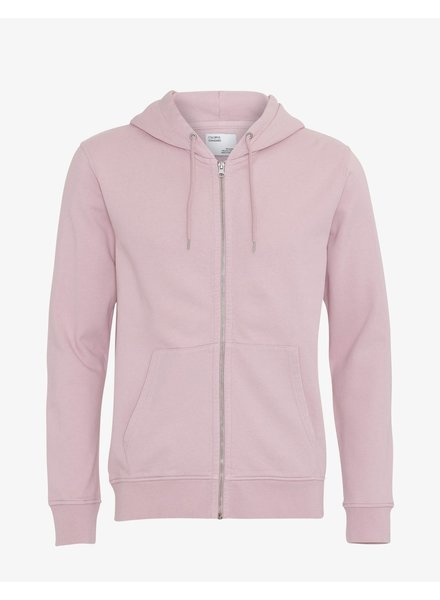 Colorful Standard Classic Organic Zip Hood - Faded Pink