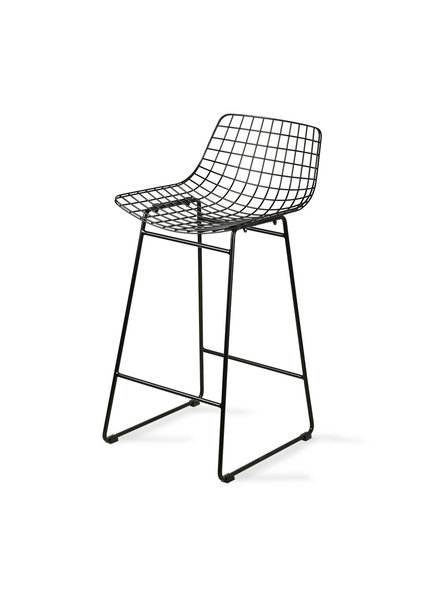HK Living Wire Bar Stool black