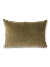 HK Living Velvet cushion army