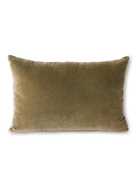 HK Living Velvet cushion army
