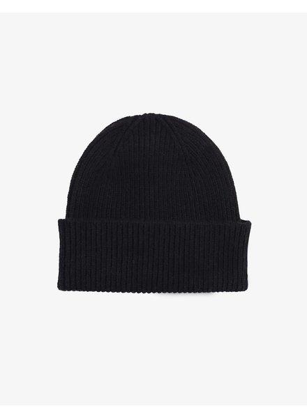Colorful Standard Merino Wool Beanie - Deep Black