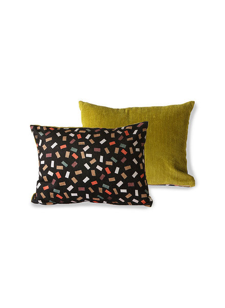 HK Living Doris for hkliving printed/rib cushion flakes
