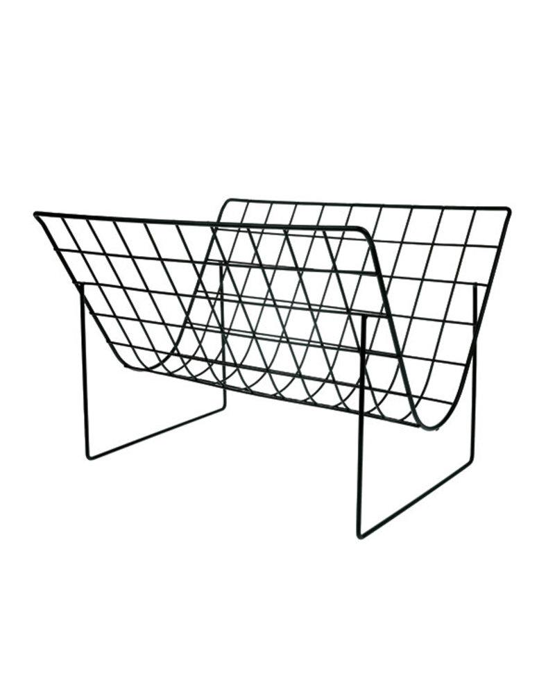 HK Living Metal wire magazine rack matt black