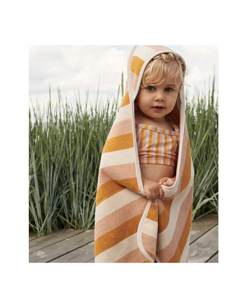 Liewood Alba hooded baby towel - Peach/sandy/yellow mellow