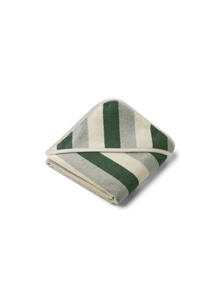 Liewood Alba hooded baby towel - Garden green/sandy/dove blue