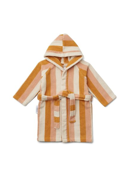 Liewood Reggie bathrobe - Peach/sandy/yellow mellow