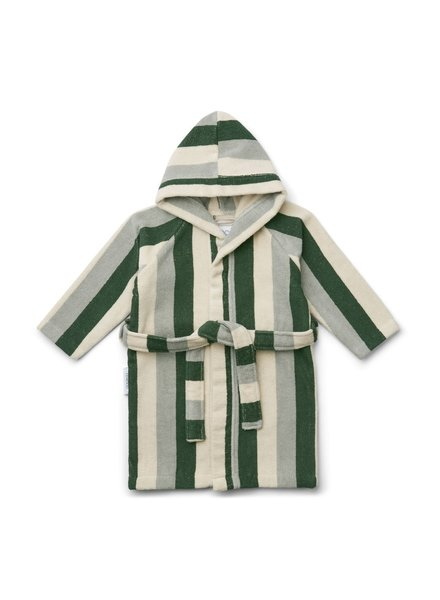 Liewood Reggie bathrobe - Garden green/sandy/dove blue