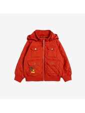 Mini Rodini Cherry embroidery hooded jacket - Red