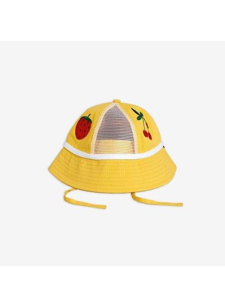 Mini Rodini Mesh sun hat - Yellow