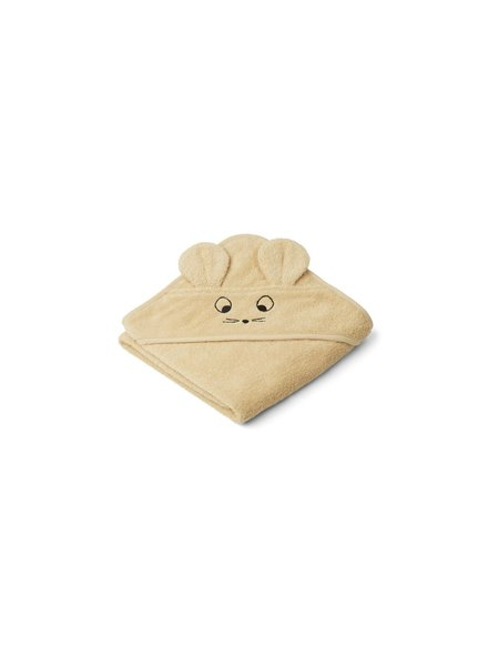 Liewood Albert hooded towel -  Mouse wheat yellow