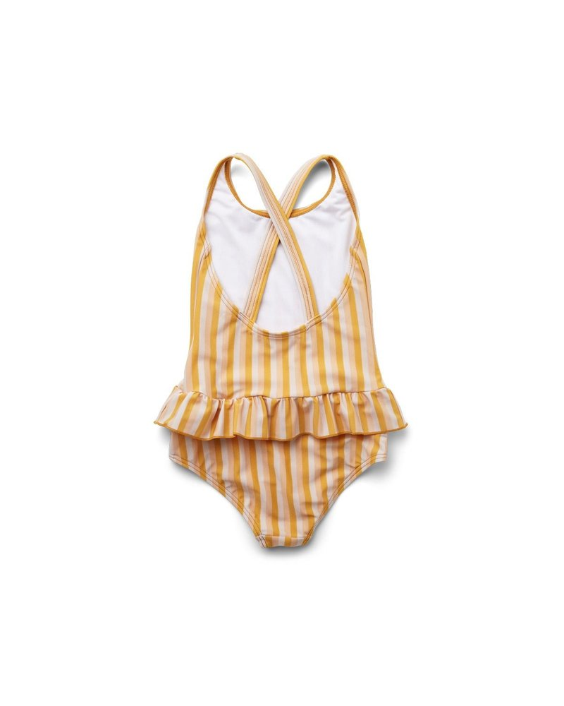 Liewood Amara Swimsuit - Stripe Peach/sandy/yellow mellow