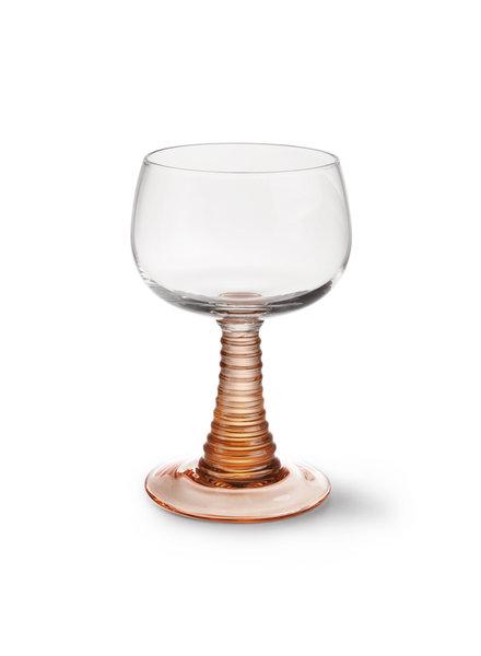 HK Living Swirl wine glass - nude
