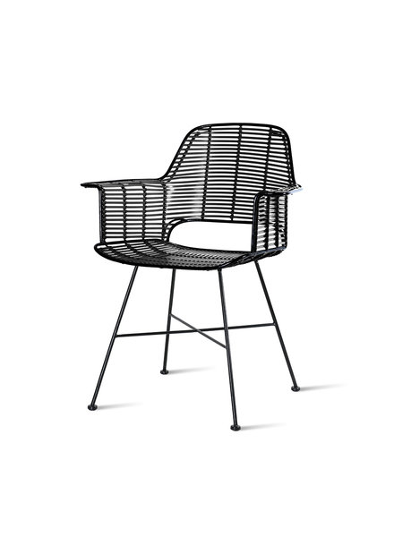 HK Living Outdoor tub chair black