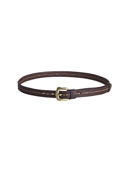 Rabens Saloner Leather white stitch belt VALENTINA