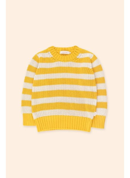 Tiny Cottons STRIPES SWEATER - YELLOW