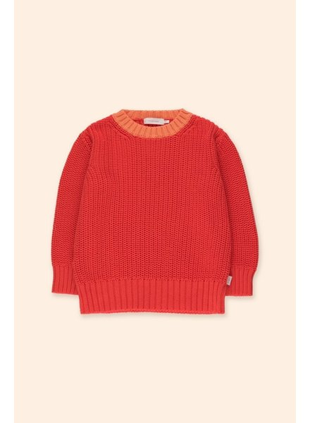 Tiny Cottons COLOR BLOCK SWEATER - RED