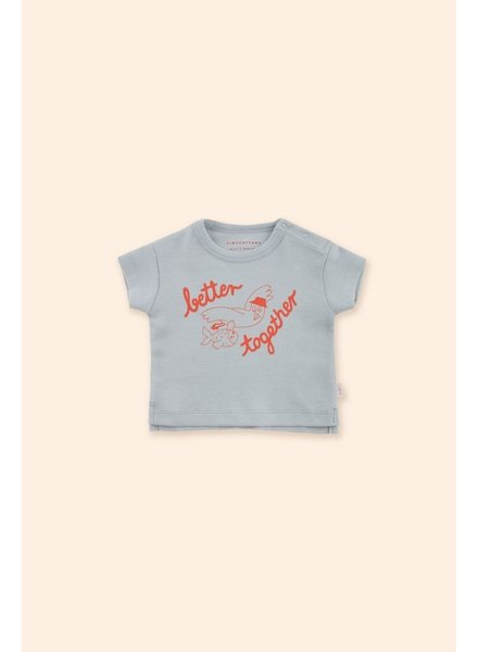 Tiny Cottons BETTER TOGETHER BABY TEE pale grey