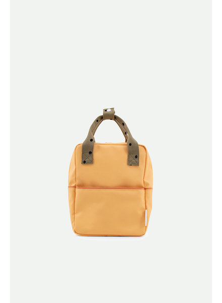 Sticky Lemon Backpack small freckles | retro yellow + seventies green + faded orange